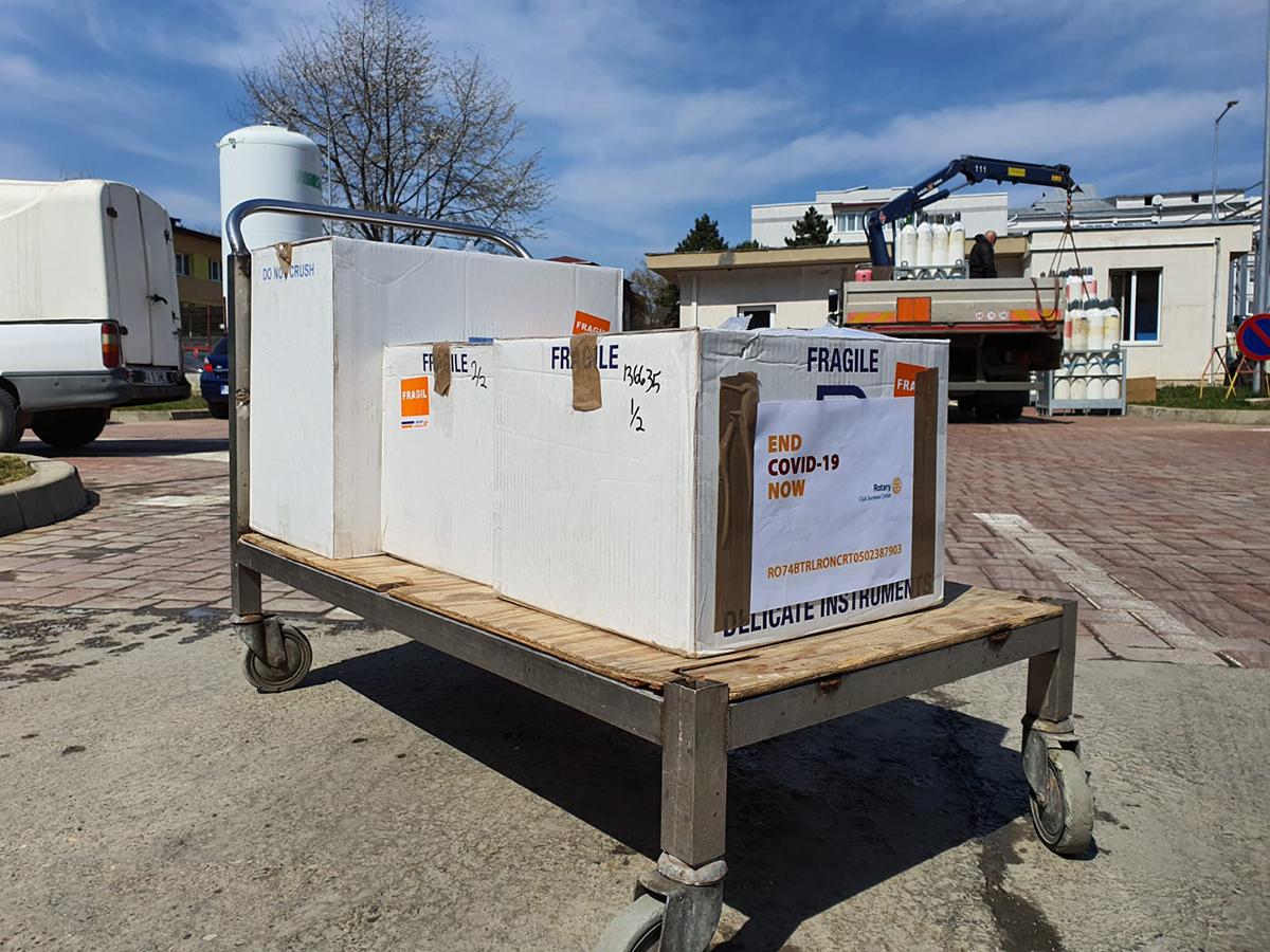Două aparate de ventilație mecanică Crossvent 4+ pentru Spitalul Județean de Urgență Sfântul Ioan cel Nou din Suceava
