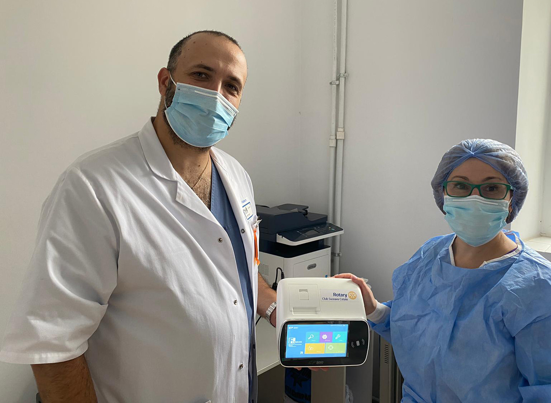 Am donat un analizor FIA 8600 Secției de Boli Infecțioase a Spitalului Județean de Urgență Sfântul Ioan cel Nou din Suceava