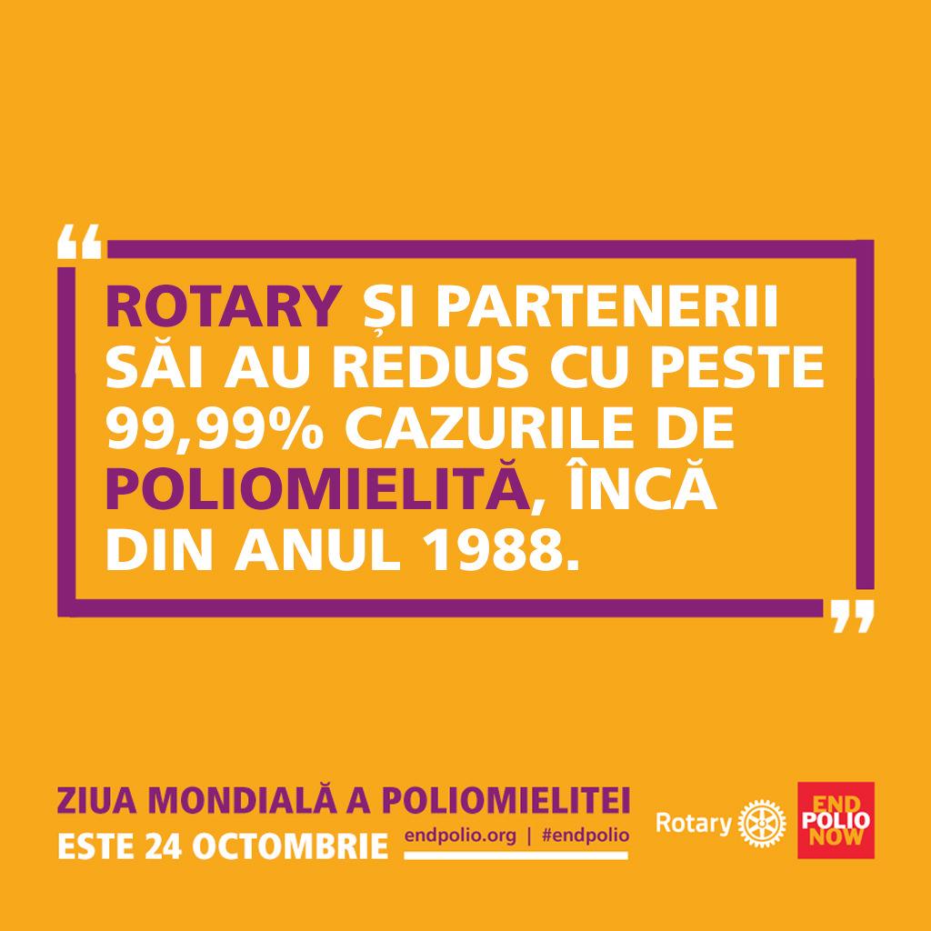 O victorie împotriva poliomielitei este o victorie pentru sănătatea globală