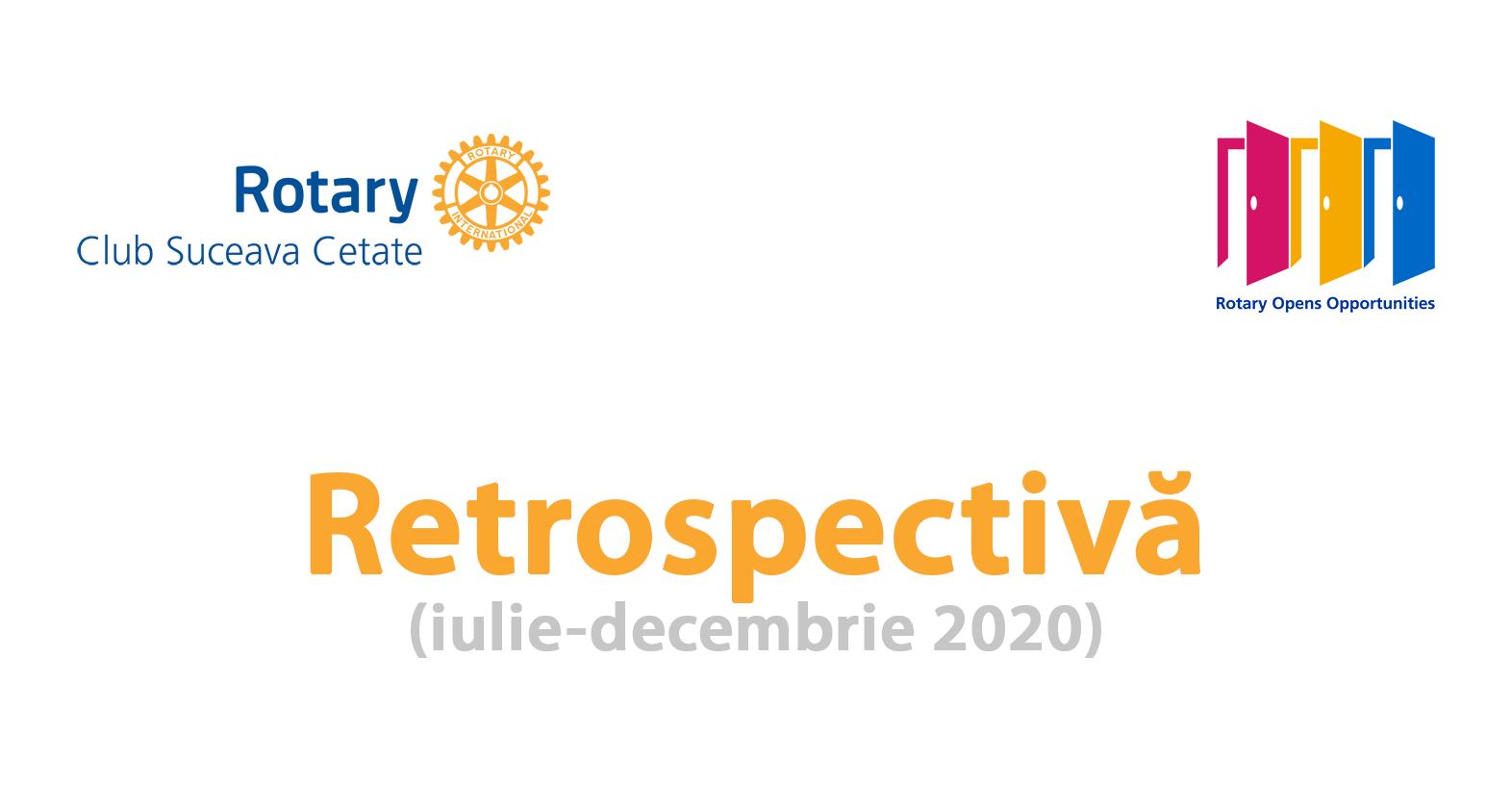 Retrospectiva activităților clubului nostru din perioada iulie-decembrie 2020