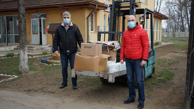 Am donat echipamente sanitare pentru personalul de la Centrul de Recuperare și Reabilitare Neuropsihiatrică (CRRN) Sasca Mică